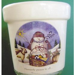 Warming Glow Holiday Candle Crock