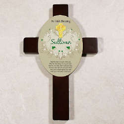 Personalized Irish Blessing Wall Cross