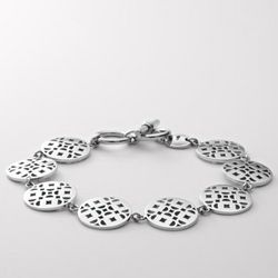 Stainless Steel Signature Disc Bracelet