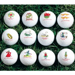 Twelve Days of Christmas Golf Balls