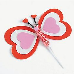 Valentine's Day Twisty Pop Butterfly Craft Kit