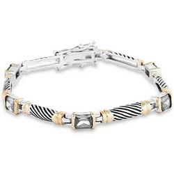 Clear Cubic Zirconia Cable Bracelet