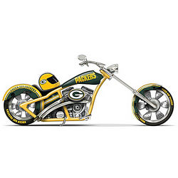 Green Bay Packers Cruiser Motorcycle Figurine