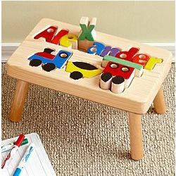 Personalized Train Puzzle Step Stool