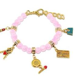 Teen Girl Charm Bracelet with Gold-Plated Chain