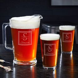 Oakhill Personalized Beer Pitcher and Glasses Set