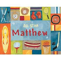 Personalized All Star Sports Canvas Art