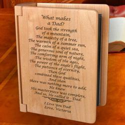 Personalized What Makes a Dad Wooden Photo Album