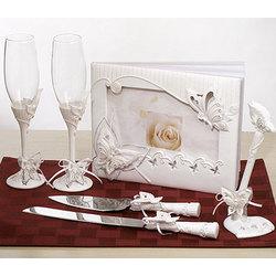 Butterfly Wedding Accessories Set
