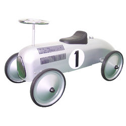 1st Birthday Silver Racer Ride On Toy