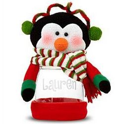 Personalized Plush Winter Holiday Treat Jar