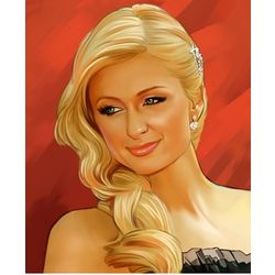 Paris Hilton Pop Art Limited Edition Print