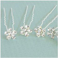 Hana Crystal Flower Bridal Hair Sticks