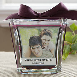 Photo Personalized Mulberry Scented Candle