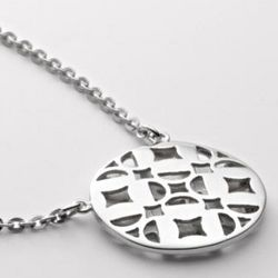 Sterling Silver Signature Disc Pendant