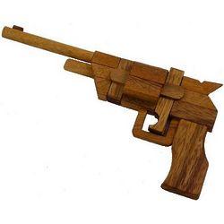 3D Pistol Kumiki Brain Teaser Wooden Puzzle