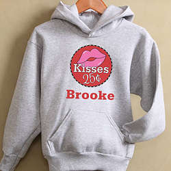 Personalized Kisses for 25 Cents Girl's Sweatshirt