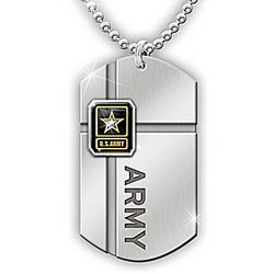 For My Soldier Army Dog Tag Pendant