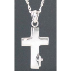 Men's Sterling Silver Faithful Cross Necklace
