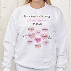 What is Happiness Personalized White Sweatshirt