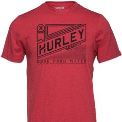 Hurley Ribbon Heathered Red T-Shirt