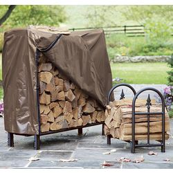 Small Decorative Heavy-Duty Steel Firewood Rack