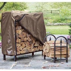 Small Decorative Heavy-Duty Steel Firewood Rack