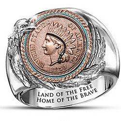 Men's Eternal Spirit of America Indian Head Penny Ring