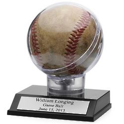 Game Ball Personalized Baseball Holder