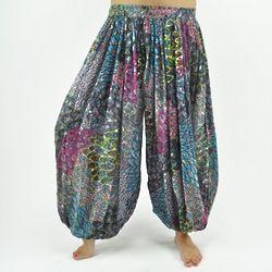 Peacock Ali Baba Harem Pants