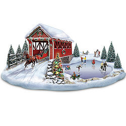 Thomas Kinkade Lighted Musical Covered Bridge with Motion