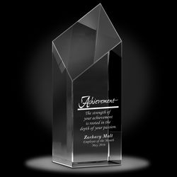 Personalized Diamond Service Crystal Award