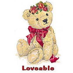 Valentine Teddy with Ribbon Adult T-Shirt