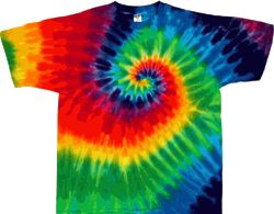12 Color Rainbow Spiral Tie Dye Shirt