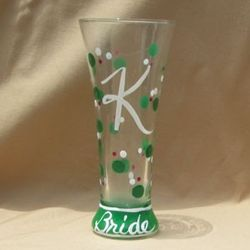 Polka Dot Hand Painted Pilsner Glass