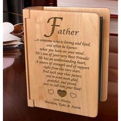 Personalized What it Means To Be a Father Wooden Photo Album