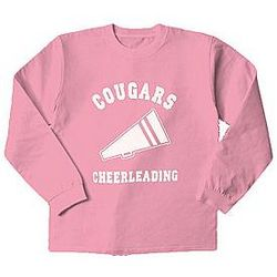 Personalized Pink Sports ls Design T-Shirt