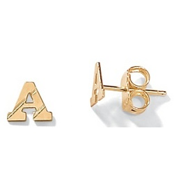 14k Gold Initial Earrings