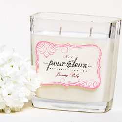 January Baby Maternity Candle