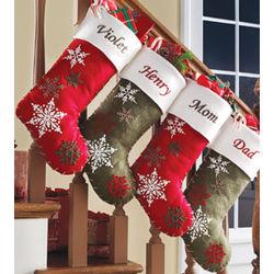 Personalized Felt Snowflake Stocking