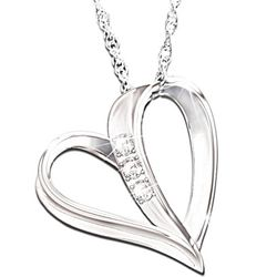 My Daughter, My Heart, My Love 3 Diamond Pendant Necklace