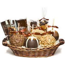 Deluxe Gourmet Caramel Apple Gift Basket