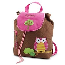 Personalized Pink Owl Backpack