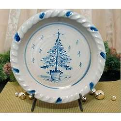 Potted Christmas Pine Pie Plate