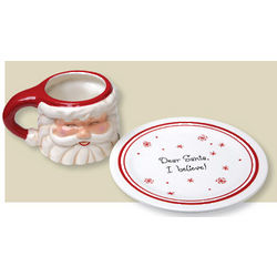 Mug And Plate for Santa Set