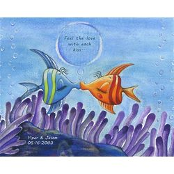 Fish Kisses Personalized Print