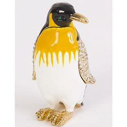 Cheerful Penguin Trinket Box