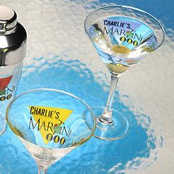 Personalized Martini Glasses