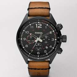 Brown Flight Leather Watch
