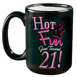 Personalized Hot and Fun 21 Mug